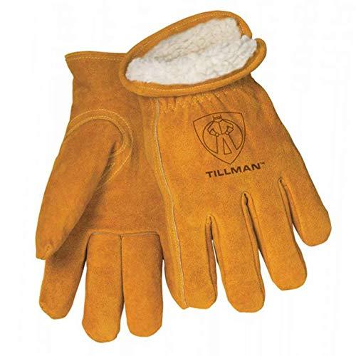 Tillman 1450 Split Cowhide Pile Lined Winter Gloves Large, Brown
