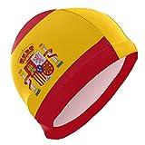 All3DPrint Gorro de natación con bandera de España para hombre