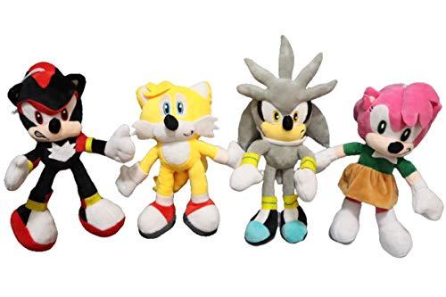 FENGHE Muñeco de Peluche Sonic 4 unids/Lote Sonic muñeco...