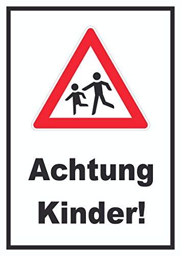 HB-Druck Achtung Kinder Schild Vorsicht Kinder A3 (297x420mm)