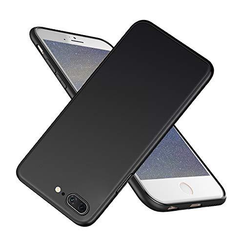 Ylife Hülle Kompatibel mit iPhone 8 Plus/7 Plus,Slim Schwarz Fallschutz,rutschfest Hochwertig TPU Weiche Handyhülle,Anti-Fingerabdruck Anti-Kratzer Feine Matte Schutzhülle für iPhone 8 Plus/7 Plus