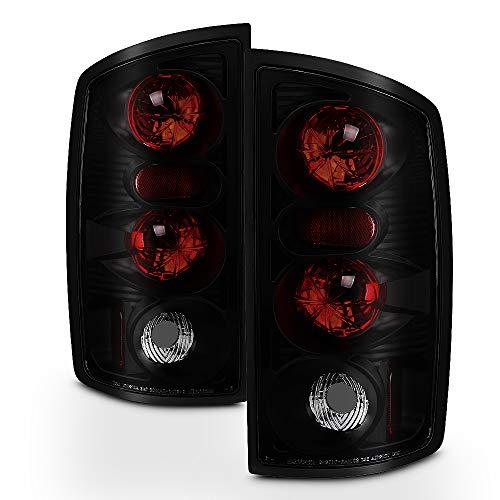 ACANII - For 2002-2006 Dodge Ram 1500 03-06 Ram 2500 3500 Black Smoked Tail Lights Brake Lamps Driver & Passenger Side