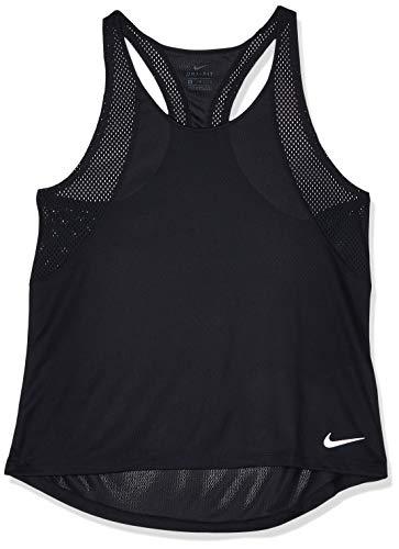 Nike Run Damen Tank Top, Schwarz (Black/Reflective silver), M