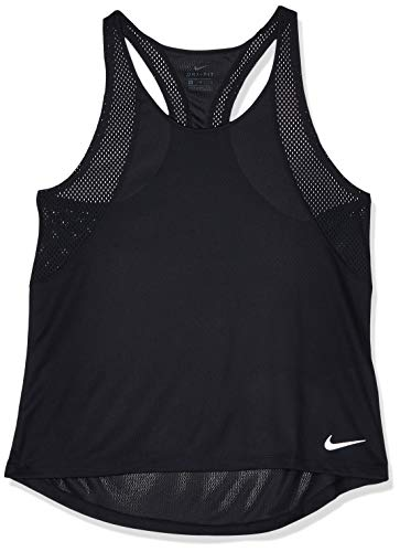Nike Run Damen Tank Top, Schwarz (Black/Reflective silver), XL