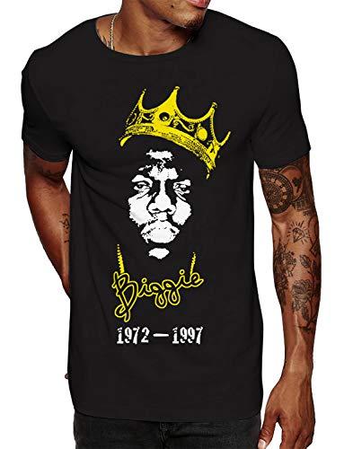 Swag Point Hip Hop Graphic T-Shirt - Urban Vintage Street wear Hipster Parody (Large, BIGGIE3)
