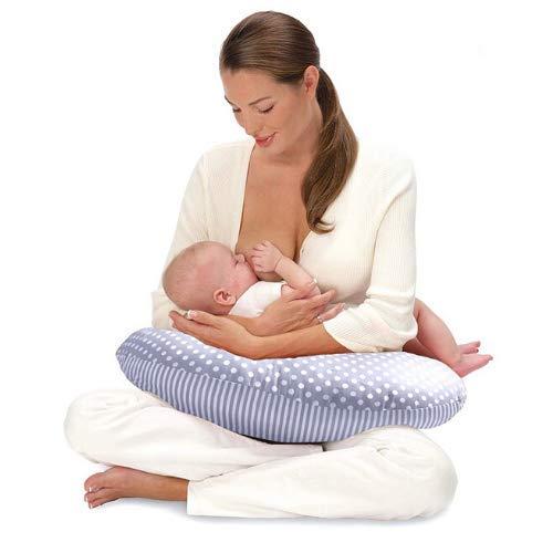 Royal Baby Cuscino Allattamento Neonato - 2 Federe Cuscino Puro Cotone - Allattamento Ergonomico Alla Mamma - Supporto Sicuro Anti-Caduta Al Bambino .