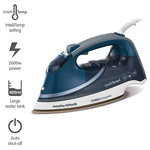 Morphy Richards Steam Iron 303131 Turbosteam Pro with Intellitemp Steam Iron, blue white