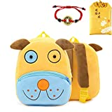 Mini Cute Toddler Backpack for Girls Boys Plush 3D Animal Cartoon Travel Bag Baby Backpack for Kids 2-6 Years with Lucky Bag (dog)