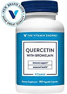 The Vitamin Shoppe Quercetin with Bromelain, Antioxidant That Supports A Healthy Immune for All Seasons (180 Capsules)