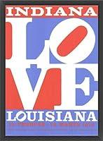 ポスター ロバート インディアナ Love louisiana 額装品 ウッドベーシックフレーム(ブラック)