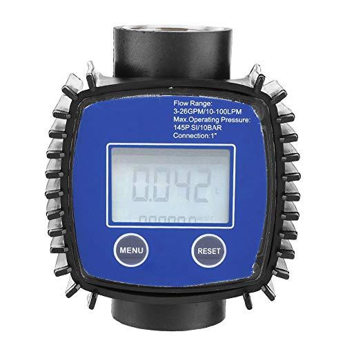 Durchflussmesser Digitalanzeige, hohe Genauigkeit Wasser Diesel Durchflussmesser 1 Zoll Innengewinde Durchflusssensoren