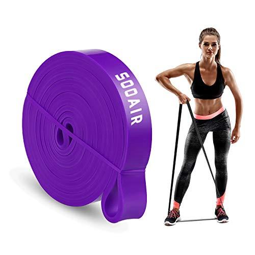 Sooair Widerstandsbänder, Fitnessbänder für Krafttraining/Fitness, Klimmzugband Resistance Bands für Muskelaufbau Pull-Up Crossfit Calisthenics (Lila, Stark/ 16-39 KG)