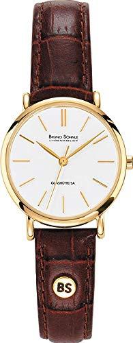 Bruno Söhnle Damen Analog Quarz Uhr mit Leder Armband 17-33045-941