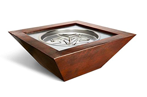 Best Deals! HPC Fire Hearth Products Controls Sedona Copper Fire Pit Bowl (SEDO40-EI-NG-24VAC), Elec...