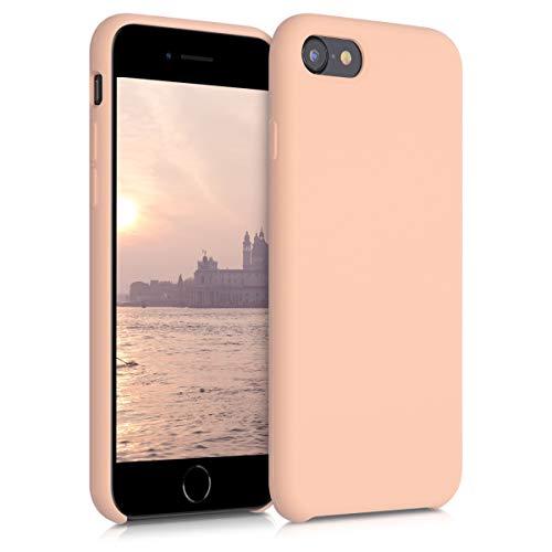 kwmobile Cover Compatibile con Apple iPhone 7/8 / SE (2020) - Custodia in Silicone TPU - Back Case Protezione Cellulare Rosa Pesca