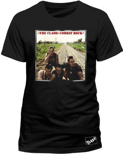 Live Nation - T-shirt Homme - The Clash - Combat Rock, Noir, X-Large
