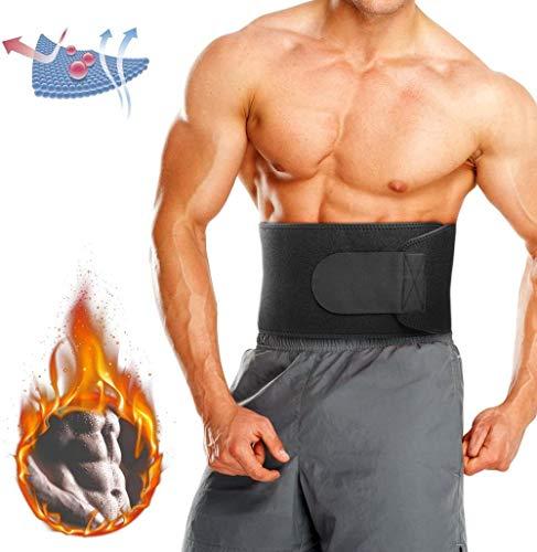 WXG Taillentrimmergürtel, Schlankheitsgürtel/Einstellbarer Bauchfettverbrenner/Bauchgewichtsverlustgürtel/Schweißgürtel Taillentrainergürtel, L.