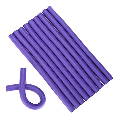 Varillas Flexibles para rizar, rulos para el Cabello, rulos para el Cabello de Espuma Suave y livianos, Herramienta de torsión Suave sin Calor para rizar el Peinado (0,6 Pulgadas)