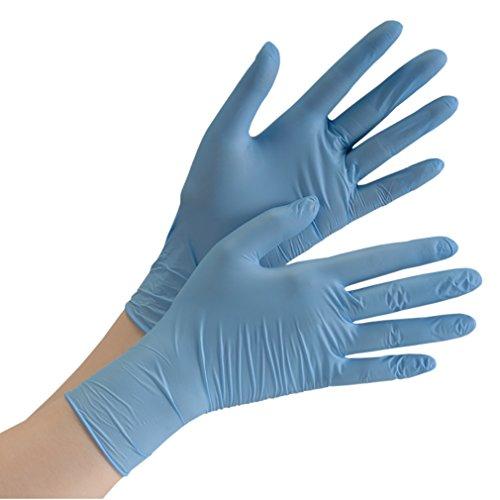 ミドリ安全 ニトリル ディスポ手袋 ベルテ714 極薄手 S ブルー 粉無 300枚入