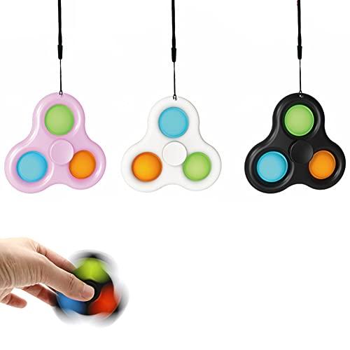 ROTEK Fidget Toy Packs, Llavero 3 Piezas Juguetes Antiestré Anti Stress Relief Toy Juguetes para aliviar el estrés de la Mano para Niños Adultos (Negro-2)