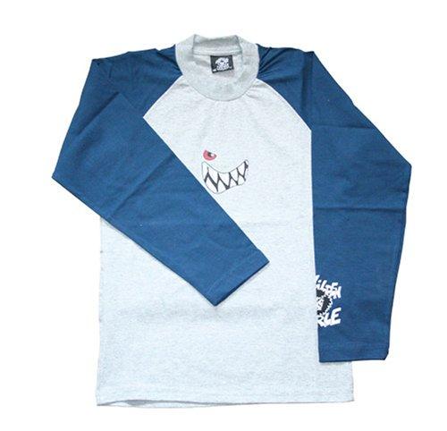 Die Wilden Kerle Raglan Longsleeve, grau-blau, Größe 164