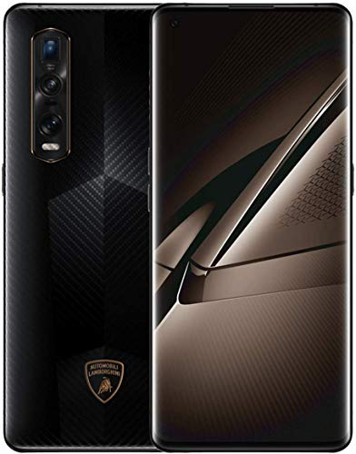 "OPPO Find X2 Pro Automobilli Lamborghini Edition – Smartphone de 6.7"" (AMOLED, 12GB/256GB, cámara trasera 48MP+13MP+12MP, cámara frontal 32MP, 4.200 mAh, Android 10, Snapdragon 865) Fiber Black"