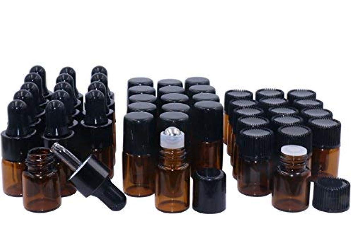 こんにちは閃光かわいらしいAmber Glass Essential Oil Bottles,2ml 15 Pack,Kit Included:Stainless Roller Ball Bottle,Eye Dropper Bottles,Aromatherapy Oil Bottles,2x Mini Droppers+1xOpener Sample Vials For DIY Essential oil Blends [並行輸入品]