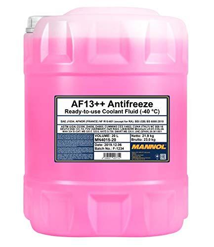 MANNOL 20 Liter, AF13++ -40°C Antifreeze Kühlerfrostschutz Fertigmischung G13