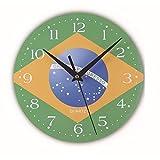WXQ-XQ 壁掛け時計木製の壁掛け時計貿易爆発ワールドカップ旗壁掛け時計小さな時計木製時計ミュートクロックリビングルームクリエイティブウォールクロック