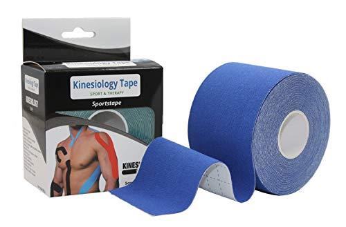 Cerotto terapeutico per Taping Kinesiologico 5cmX5m - Supporto Muscolare e Sostegno articolare, Recupero Funzionale Post traumatico, Aumento Forza e Resistenza