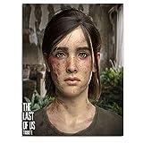 KINGAM The Last of Us Part II - Lienzo de pintura de juegos de aventura Concepto Ellie y Joel moderno ambiente minimalista, sin marco listo para colgar