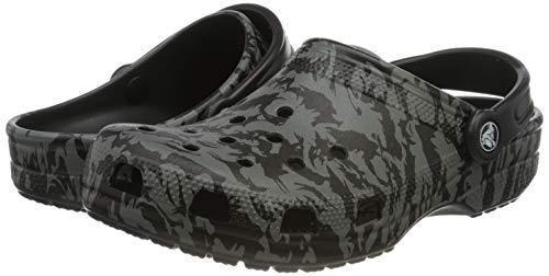Crocs Classic Clog Unisex Adulta Zuecos, Negro (Black 001), 42/43 EU