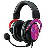 MightySkins Skin Compatible With Kingston HyperX Cloud II Gaming Headset - Pink Kaleidoscope   Protective, Durable, and Unique Vinyl Decal wrap cover   Easy To Apply, Remove   Made in the USA