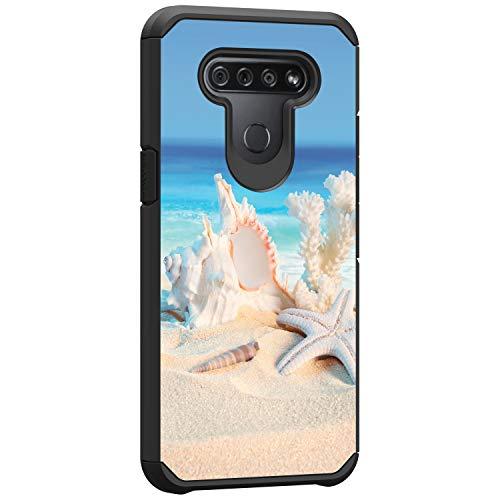 TurtleArmor | Compatible with LG K51 Case | LG Q51 Case | LG Reflect Case | Hard Shell Impact TPU Case Hybrid Ocean Beach Design - Conch Shell