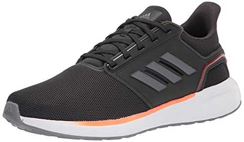 Adidas Men's EQ19 Run Cross Trainer, Carbon/Grey/Solar red, Numeric_7