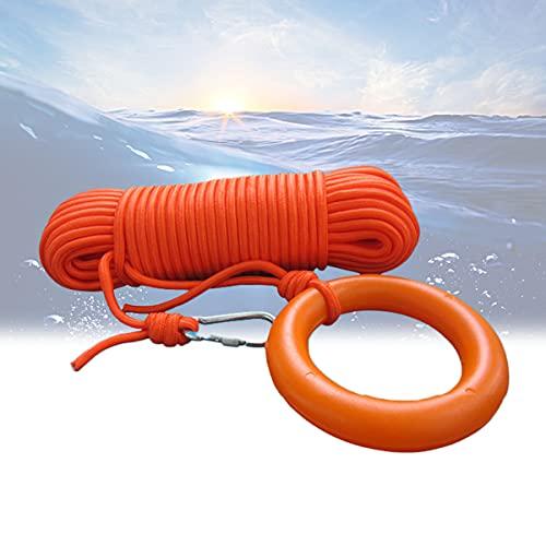 YCRD Cuerda Flotante Que Salva Vidas, Fuerza de tracción Fuerte 30 m Cuerda Salvavidas Flotante Agua Profesional diámetro para Piscinas Grandes Playas, Yates,4mm/0.15in
