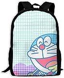 Lsjuee Custom Doraemon Music Mochila Informal Mochila Escolar Mochila de Viaje Regalo