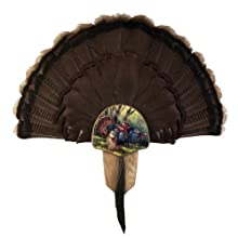 "Solid Oak Turkey Display Kit with InGrained Art image ""Spring Strut"" by Rosemary Millette Works perfectly well with all species including Eastern, Osceola, Rio Grande, Merriam's and Gould's Turkeys The kit includes everything you need to mount your f..."