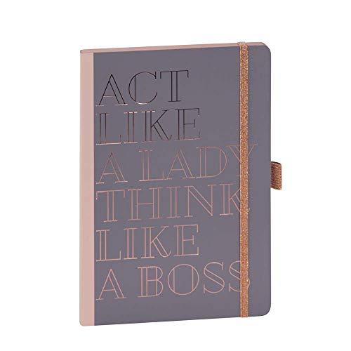 ARTEBENE Notizbuch Notizheft Schreibheft Schreibbuch Act like a Lady think like a Boss A5
