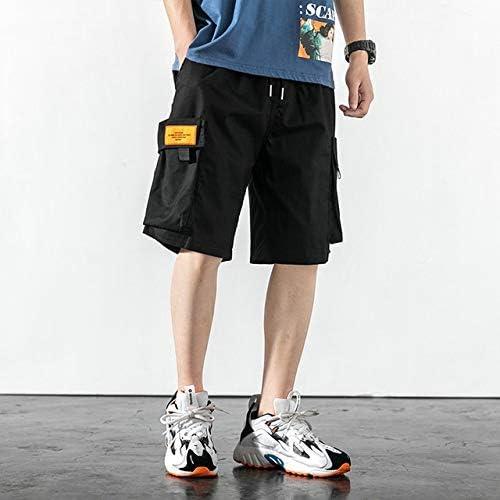 JiuRui Leisure Shorts New Summer Style Hip Hop Men Shorts Streetwear Vintage Joggers Cargo Shorts (Color : Black, Size : M)