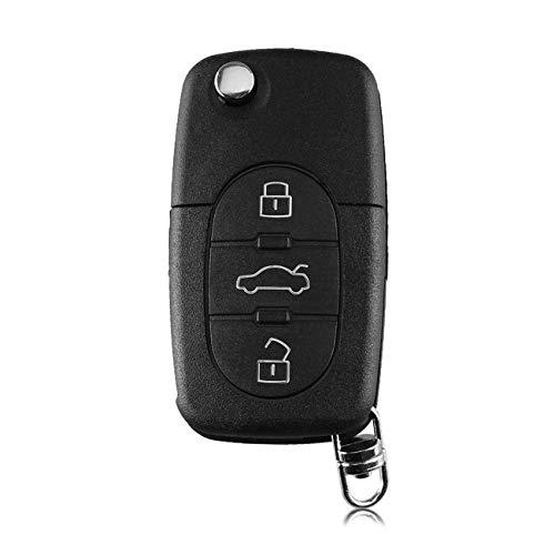 Heart Horse CR2032 Reemplazo para Au-di A2 A3 A4 A6 A8 TT Plegable Flip Remote Key Shell Shell Blade llave del coche