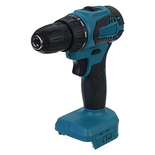 Práctico Destornillador de taladro eléctrico de 18V 21V eléctrico 90NM Torque Torque Máquina de perforación Mini Taladre manual Herramienta de potencia inalámbrica para la batería Makita fácil de usar
