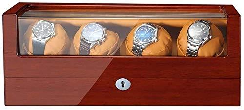 ZouYongKang Uhr Wickler für 2 automatische Uhren, Holzschalen-Klavier-Finish, 5-Modus und Stummschaltung mit Mehreren Positions-Uhrenboxen, Flexibles Uhrkissen und USB-Kabel (Size : C)