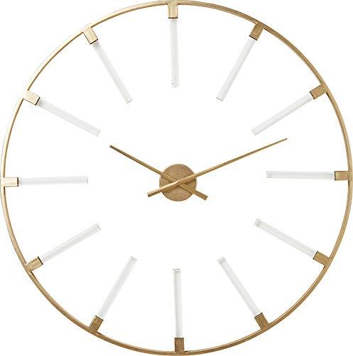 Kare Design Wanduhr Visible Sticks, Ø92 cm, moderne und große Uhr für das Wohnzimmer in runder Form, Designer Wanduhren, Gold, (H/B/T) 92x92x3cm