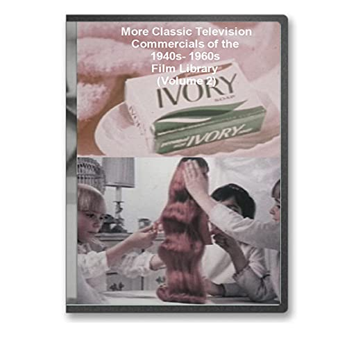More Classic Television Commercials of the 1940s- 1960s Film Library DVD - Vintage Alcohol, Bread, Cigarettes, Coffee, Toys, Household Goods, Food and Toothpaste Commericals