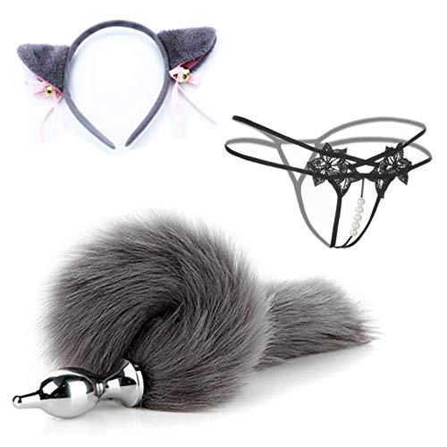 Diadema de oreja de gato para cosplay Ana111 enchufe cola de zorro para pareja