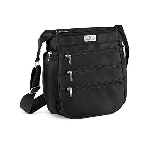 OrganiZZi TM Crossbody RFID Bag, Black, One Size Fits All