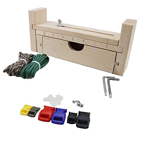 Pulsera de Paracord Fabricante de madera Weaving Craft fabricante de la pulsera ajustable del nudo del trenzado de herramientas de bricolaje Weaving Craft Kit de herramientas, equipo al aire libre