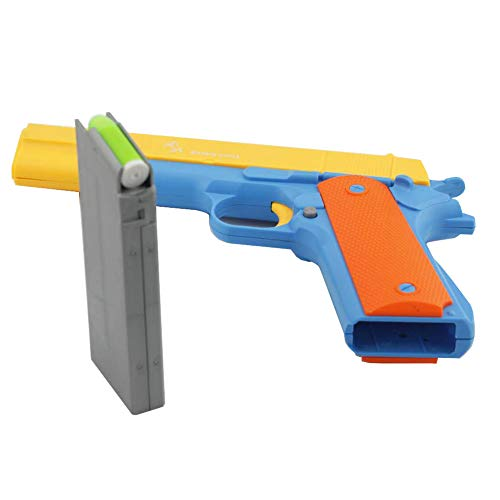 Toy Gun Colt 1911 Pistol with Magazine and Bullets, 1: 1 Size Blaster Gun Toy Boy Gift for Training or Play