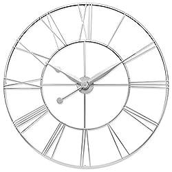 Infinity Instruments Silver Skyscraper XXL Oversize Wall Clock